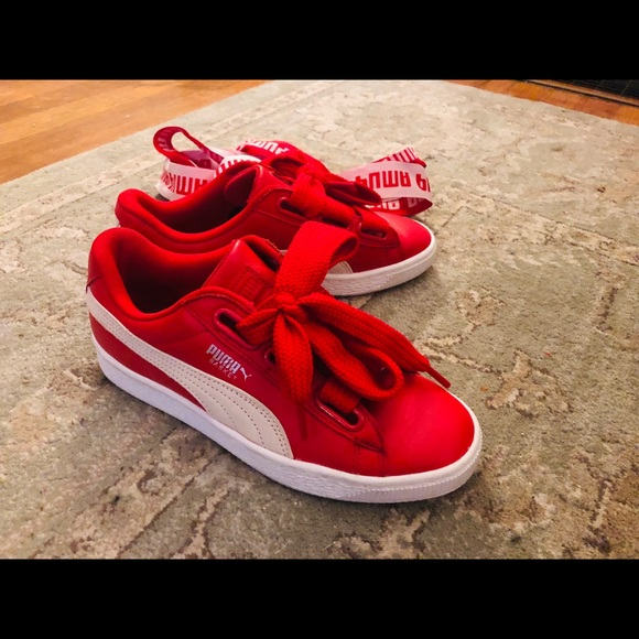 low priced 3b192 16684 Red puma basket heart 6.5